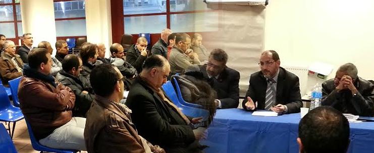 لقاء مع ممثلين عن الجالية الجزائرية بفرنسا